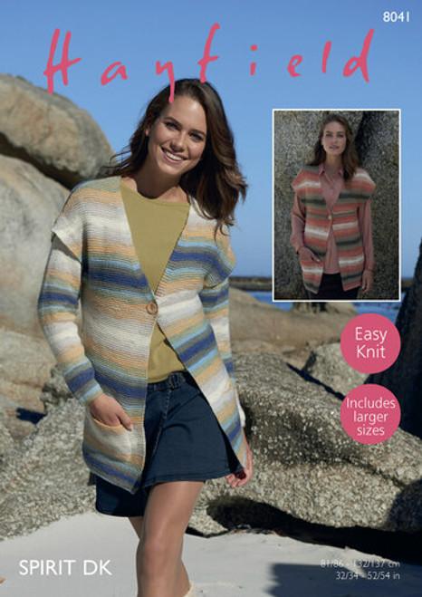 Hayfield Pattern 8041 - Jacket & Waistcoat