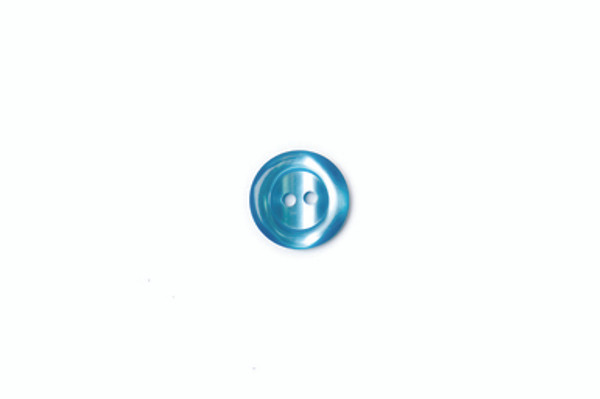 Round Teal Polyester Button