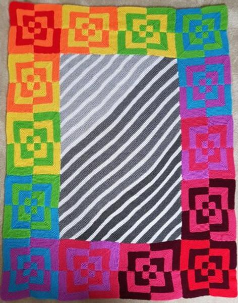 Woolfull Free Knitting Pattern - Summer '67 Blanket