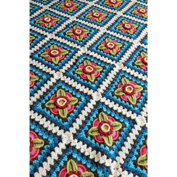 Mexican Diamonds Crochet Blanket by Jane Crowfoot