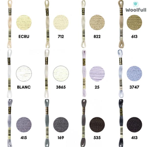 DMC Stranded Cotton - Neutrals