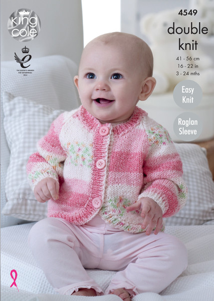 King Cole Pattern 4549 - Hoodie, Cardigans and Sweater