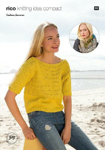 Rico Pattern 315 - Sweater and Loop Scarf