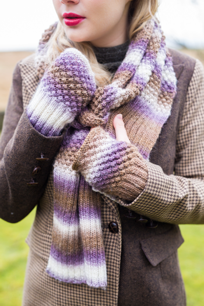 DY Choice Apollo Pattern DYP338 - Scarf and Hand Warmers