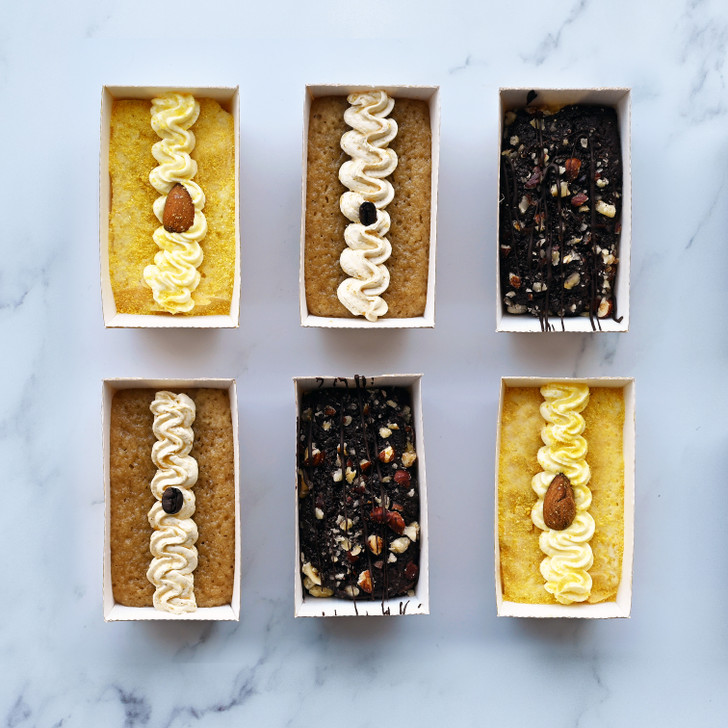 Sugar Free Cakes Gift Box - suitable for diabetics. Flavours include lemon cake, chocolate cake and coffee cake delivered.