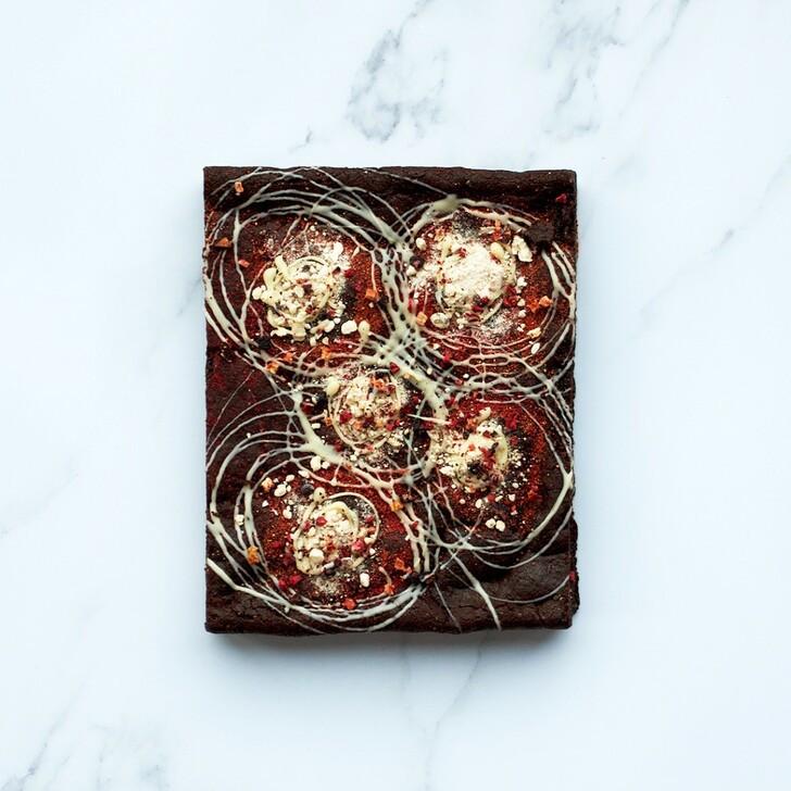 Berry iconic brownie slab