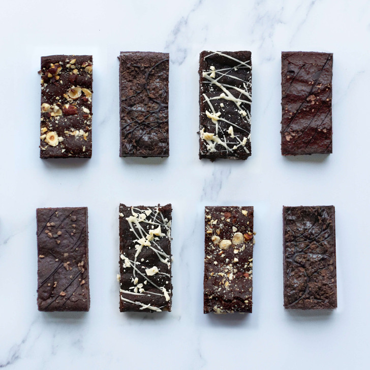 Vegan and Gluten free brownie selection bow via post