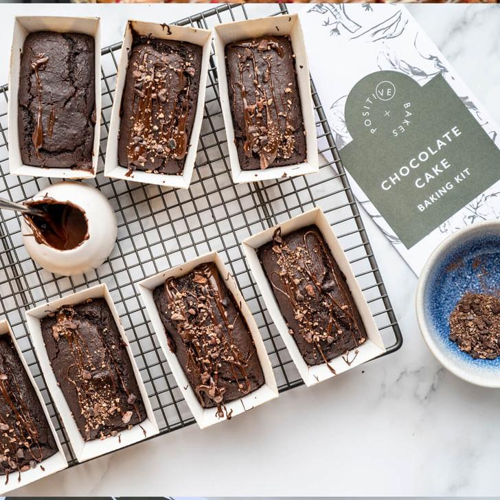Vegan chocolate cakes in mini loaf cases