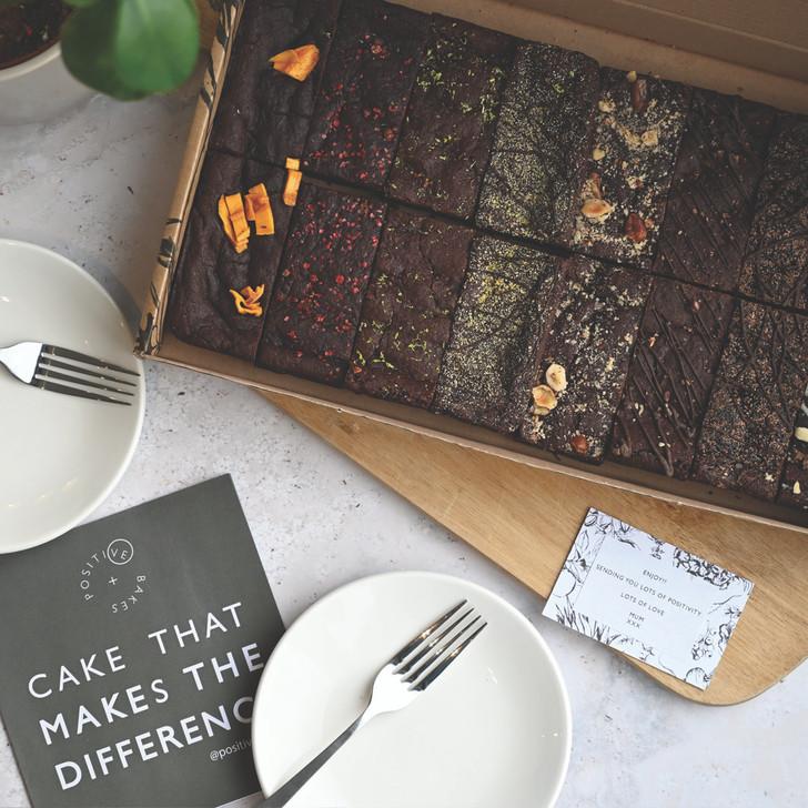 Positive Bakes vegan and gluten free brownies