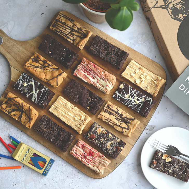 Positive Bakes Selection Box of vegan blondies and brownies