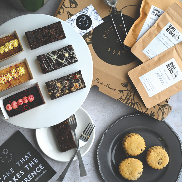 Mothers Day Luxury Afternoon Tea Gift Box | Vegan, gluten free, dairy free, eggless