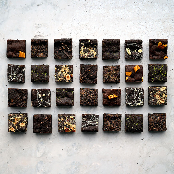 Positive Bakes Brownie Selection Gift Box delivered by post vegan, gluten free