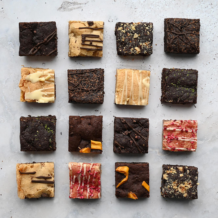 Positive Bakes Brownie & Blondie Selection Box delivered by post 16 portions
