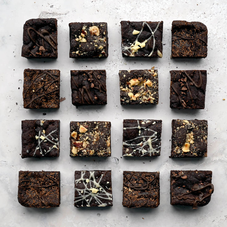 Positive Bakes vegan and gluten free brownies selection box delivered next day