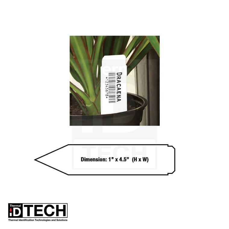 "1""x4.5"" Thermal Light Duty Pot Tag (1,000 Tags)"