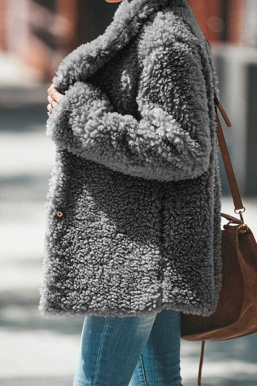 Iconic Pocketed Sherpa Jacket For Women