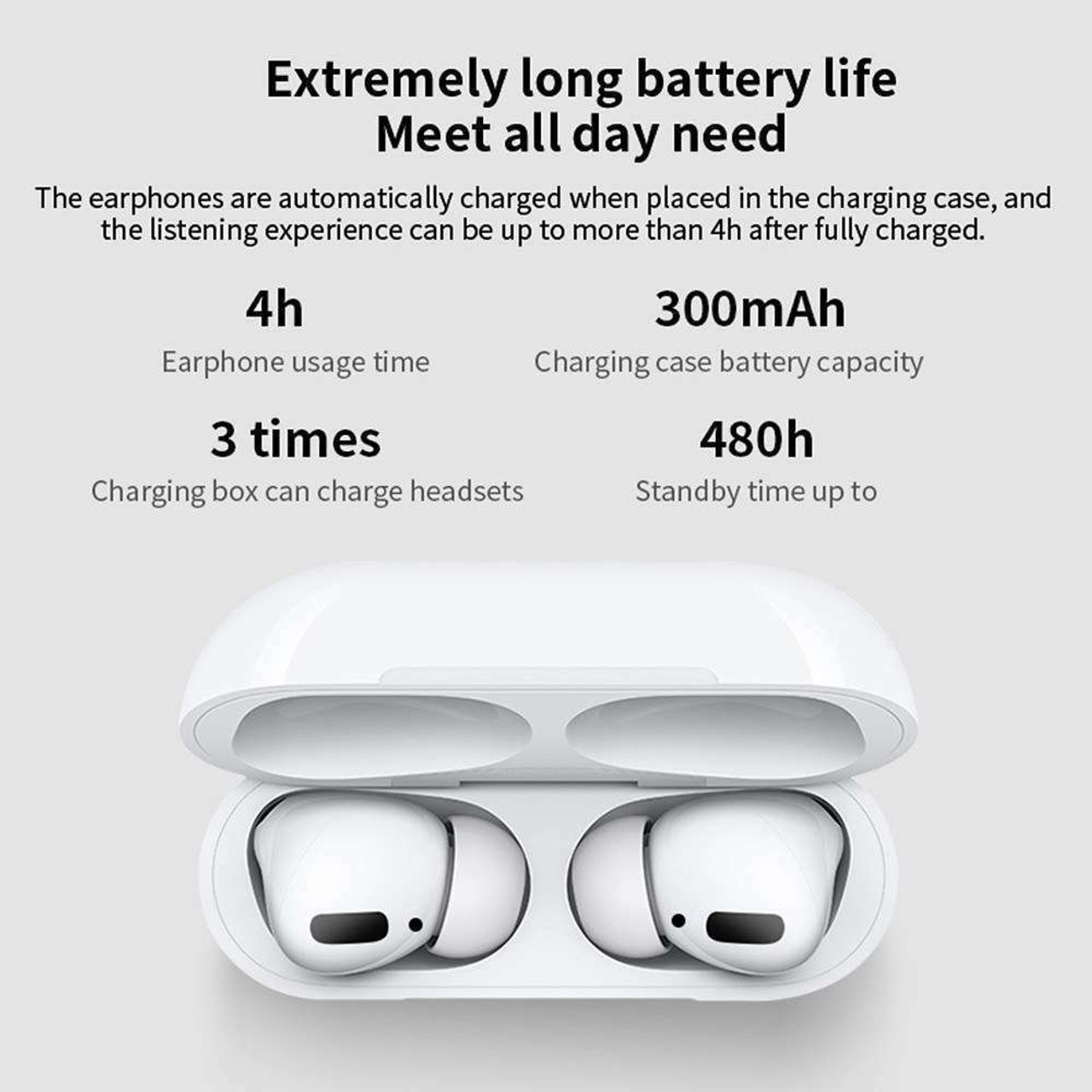 Airs Pro TWS Wireless Earphones BT 5.0 Smart Touch Earbuds Work with Siri PK i90000 i12 Pod 2