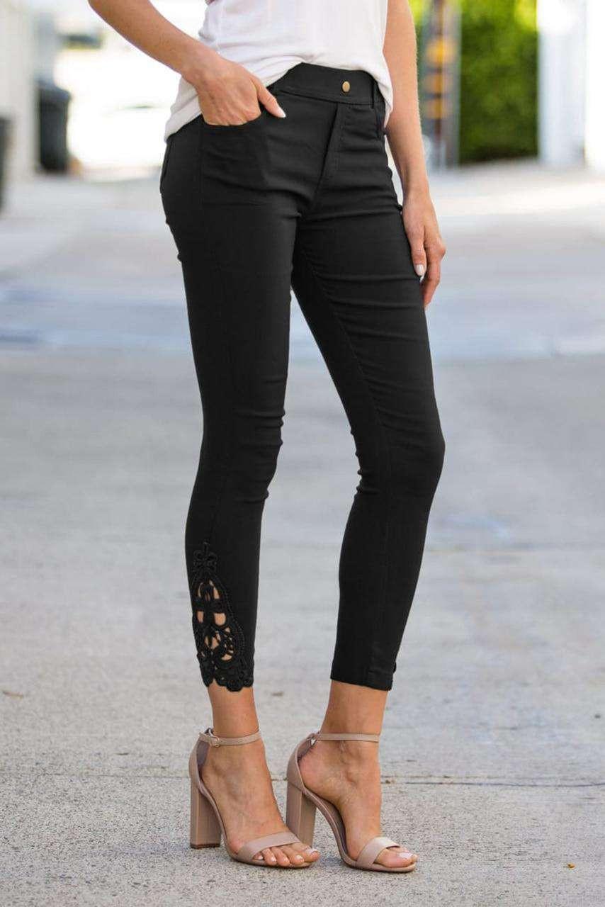 Black Crochet Leggings