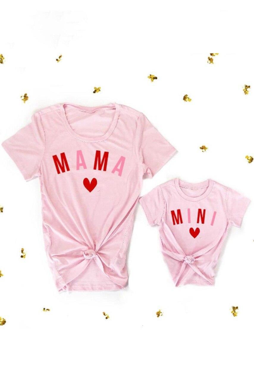 Pink MAMA Matching Tee