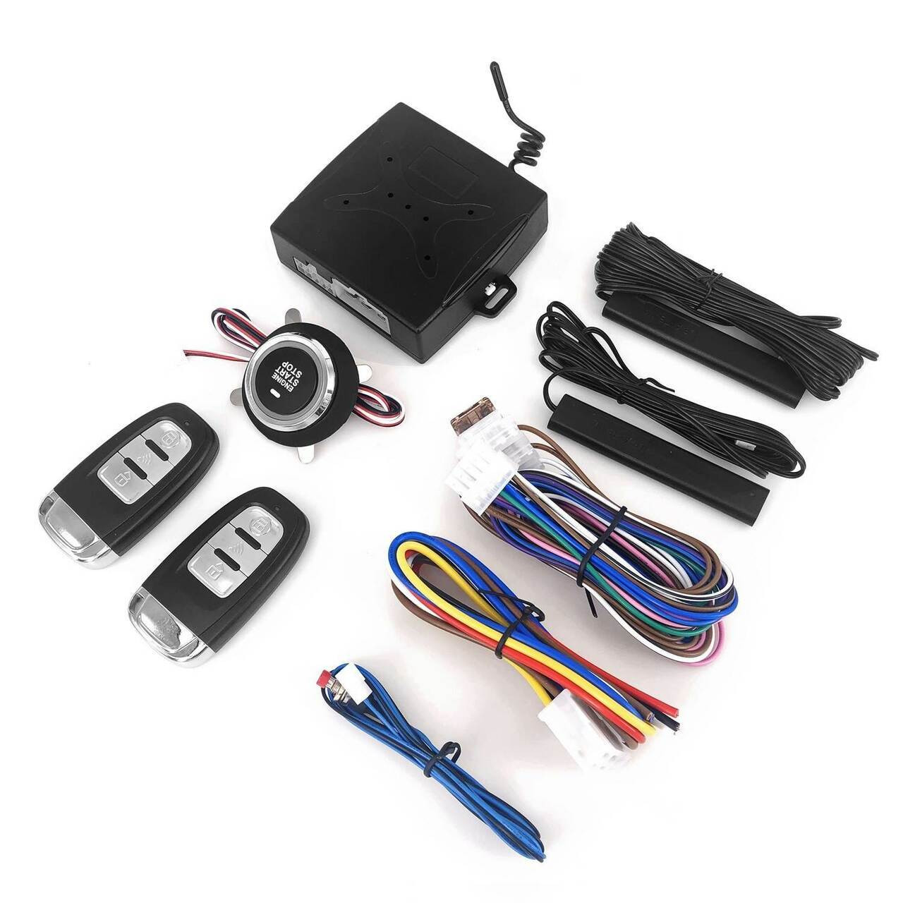 12Volt Universal One-click Boot System Modify Keyless Access System Alarm System Remote Starts Remote Control Auto Car One Starts Stop Engine System