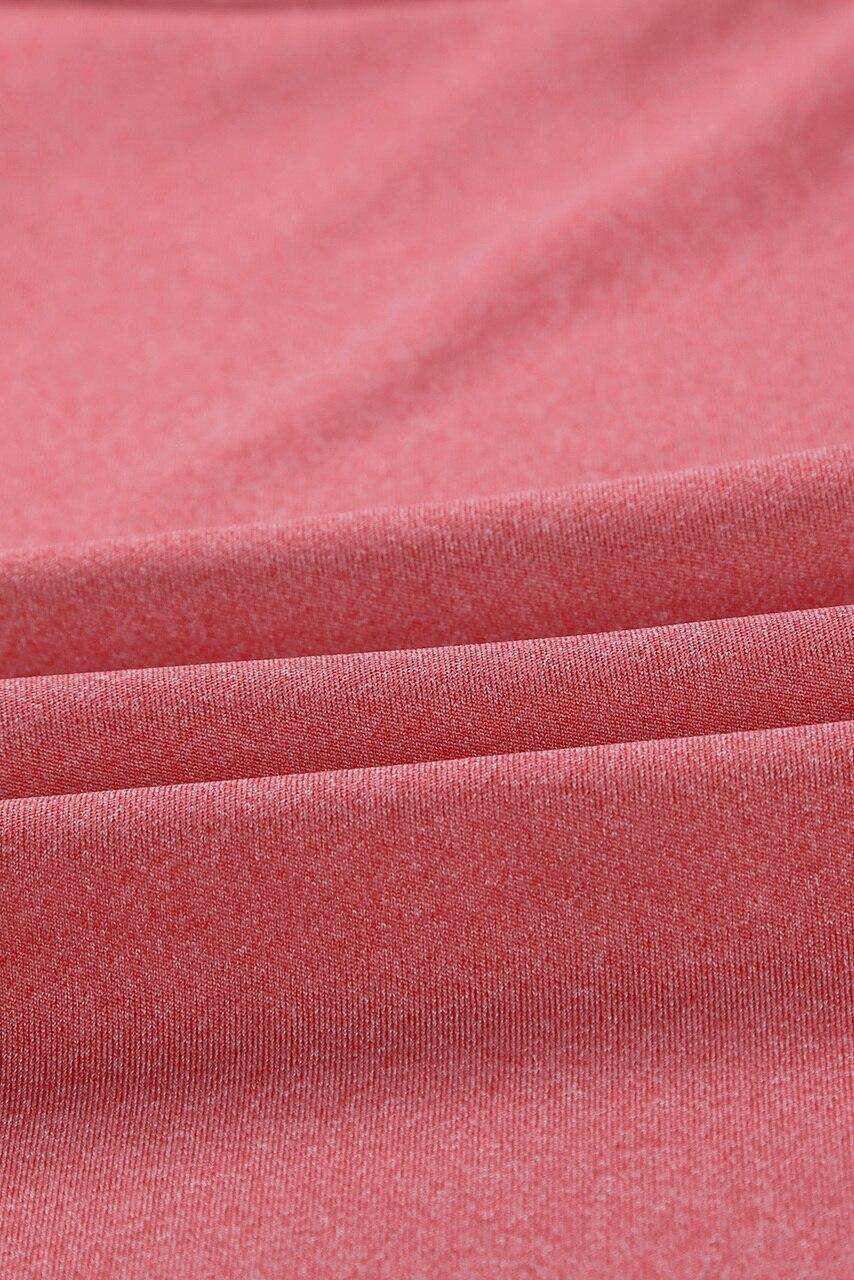 Pink Crisscross Sports Bra and Leggings Set