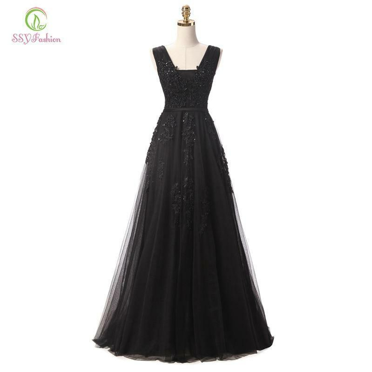 Hot Sell Sweet Lace V-neck Lacing Long Evening Dress The Bride Party Sexy Backless Prom Dress