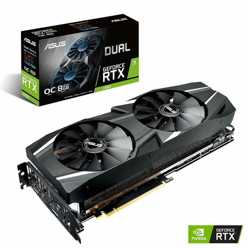 Asus Dual Geforce RTX 2080 OC Graphic card 8GB GDDR6