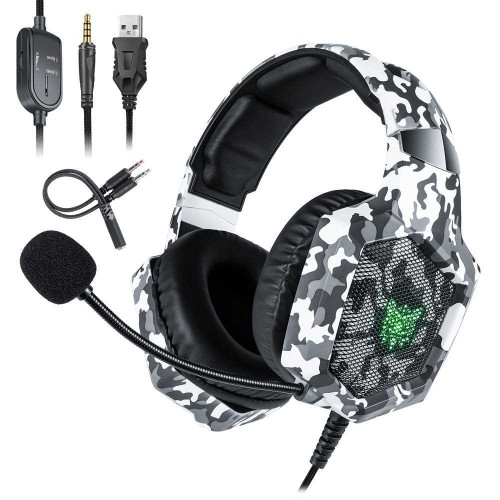ONIKUMA K8 Special Gaming Headset with Adapter for PS4 & Xbox
