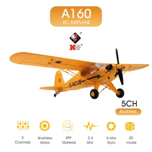 WLtoys A160 RC Plane 5 Channel Brushless RC Airplane