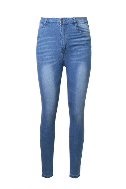 Blue Skinny Ankle Jeans