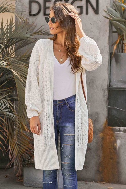 Long Front Open Cardigan For Women
