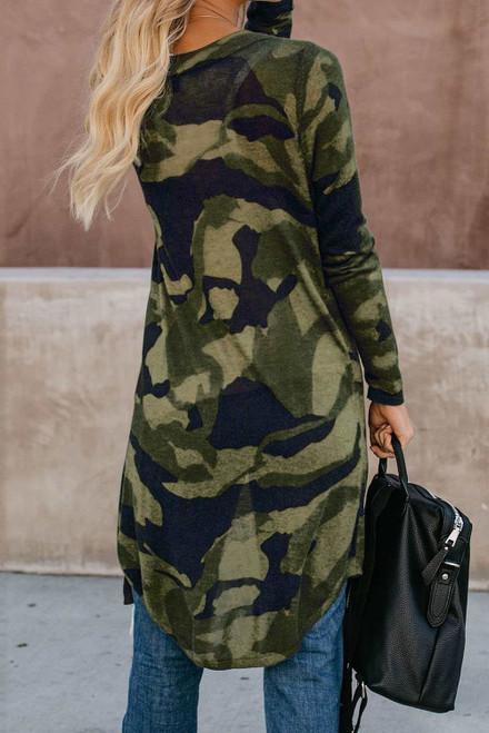 Leopard Print Long Cardigan For Women