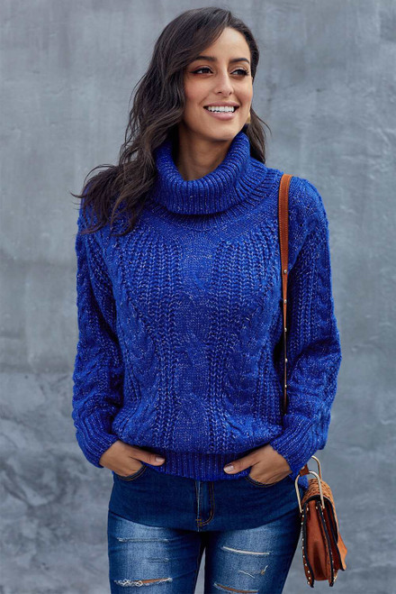 Chunky Turtleneck Sweater For Women