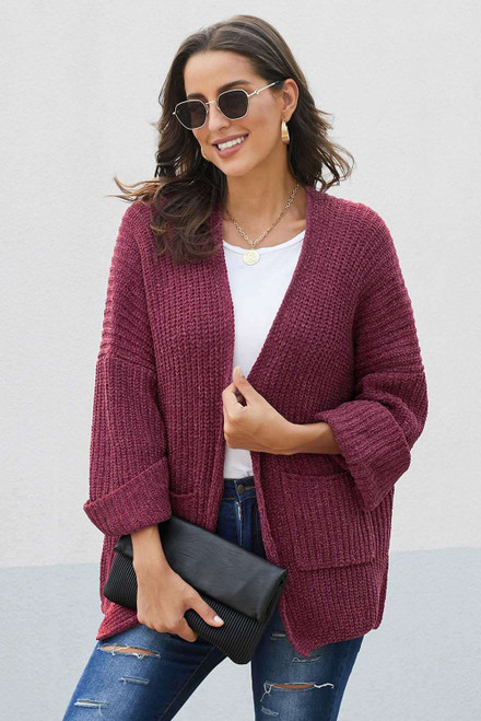 Norway Chenille Pocketed Cardigan