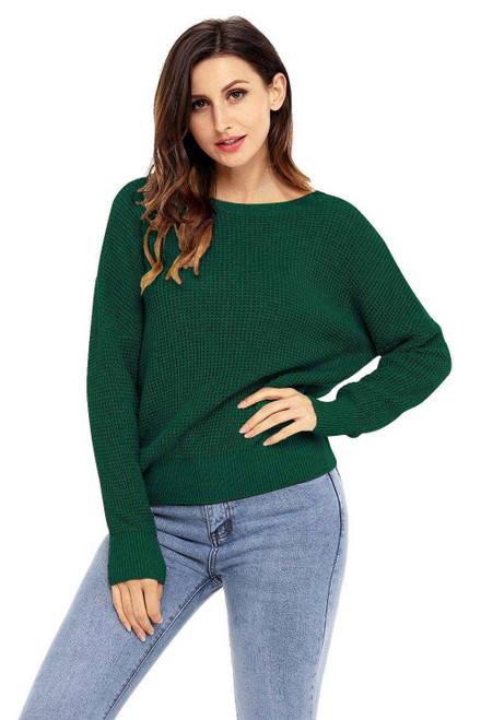 Cross Back Hollow-out Sweater