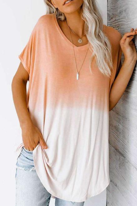 Ombre Color Block Casual Summer Shirt