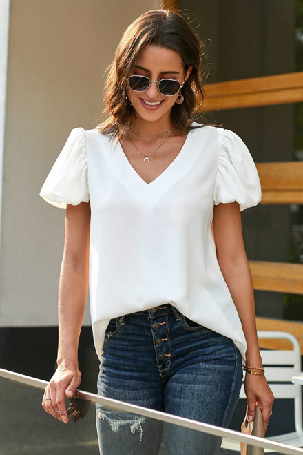 Puff Sleeve Blouse For Women