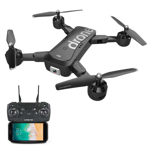 F88 RC Drone with Dual Camera 1080P Image Follow Optical Flow Positioning APP Gesture Control Foldable Quadcopter
