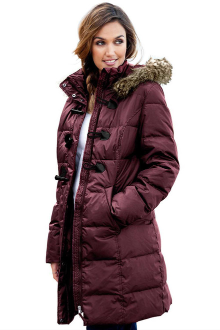 Toggle Button Quilted Coat for Women