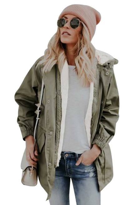 Zip Front Jacket with Pockets For Women
