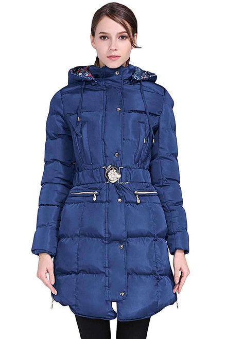 Cotton Quilted Longline Hooded Coat