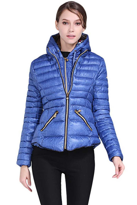 Hooded Cotton Jacket with Zipped Pockets