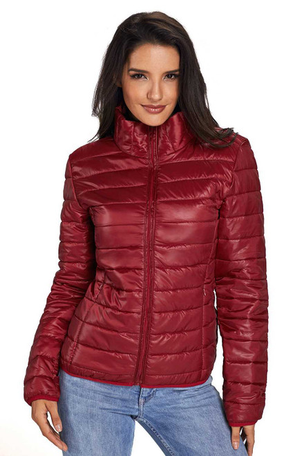 High Neck Quilted Cotton Jacket