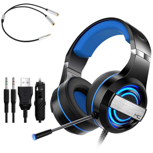 Q9 Wired Gaming Headset With Audio Adapter for PC PS4 Xbox