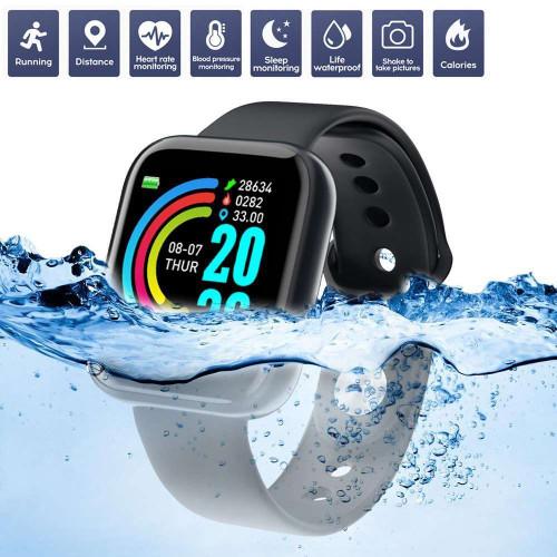 Y68 Smartwatch D20 BT Waterproof Sport Fitness Tracker Blood Pressure Heart Rate Monitor