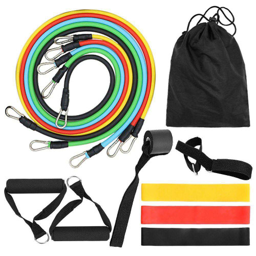 14pcs Resistance Bands Set Workout Fitness With Handles & Bag
