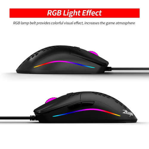 ZELOTES C-7 USB Wired RGB Gaming Mouse 16000DPI Adjustable