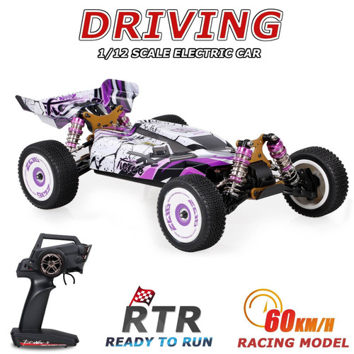Wltoys 124019 High Speed Racing Car 60km/h 1/12 2.4GHz RC Car Off-Road Drift Car RTR 4WD Aluminum Alloy Chassis Zinc Alloy Gear