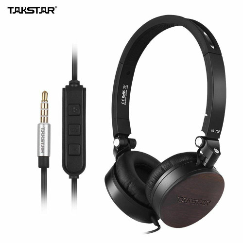TAKSTAR ML 750 MFi Headphone with Mic Noise Cancelling Carry Case