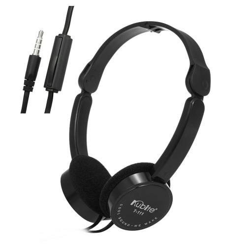 KUBITE T-111 Wired Headphones Foldable Sports Headset For Music and Gaming